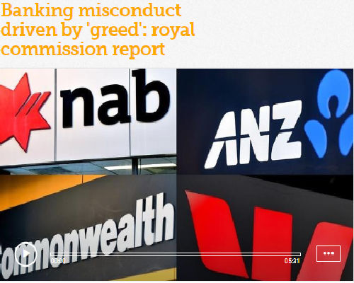 Banking misconduct driven by 'greed': royal commission report