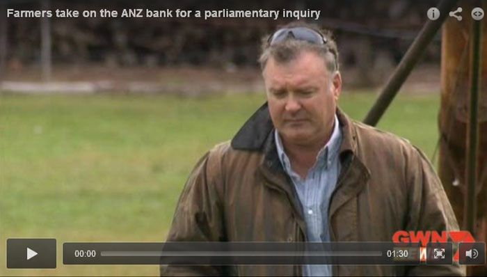 Farmers take on the ANZ bank for a parliamentary inquiry (video)