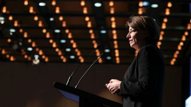 Australian Bankers Association head Anna Bligh concedes banks face 'implosion' of public trust