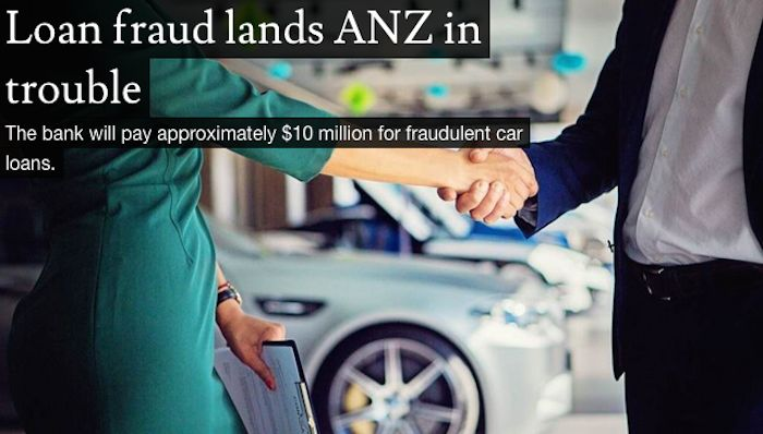 Loan fraud lands ANZ in trouble
