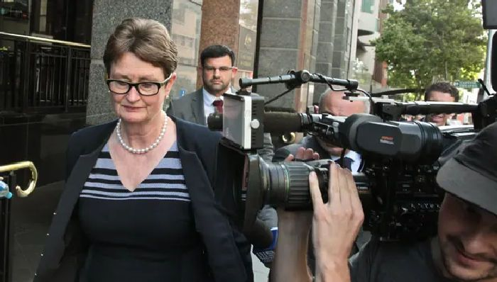 Commonwealth bank chair Catherine Livingstone leaves the royal commission hearing in Sydney this week. Photograph: Ben Rushton/AAP
