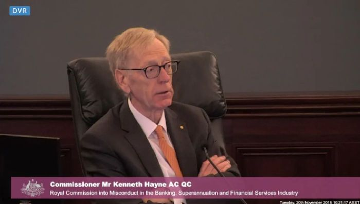 Commissioner Kenneth Hayne at the Royal Commission.CREDIT:FAIRFAX MEDIA