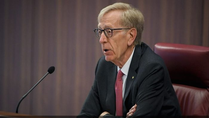 Commissioner Kenneth Hayne has heard a litany of corporate lies, deceit and greed. Photo: AAP
