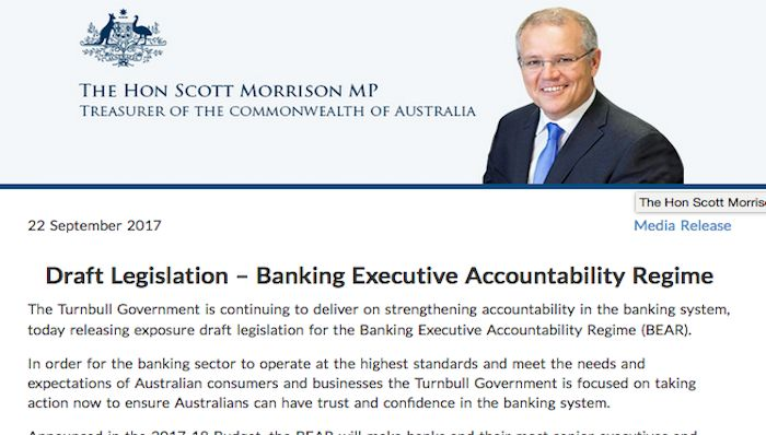 Draft Legislation – Banking Executive Accountability Regime
