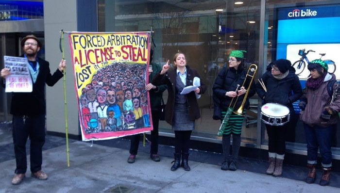 "Marching Band Delivers Petition To Citi Asking Banks To ""Revoke License To Steal"""