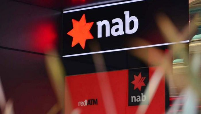 PHOTO: NAB reports a first half profit of $2.55 billion, slightly weaker than expected. (ABC News: Nic MacBean)
