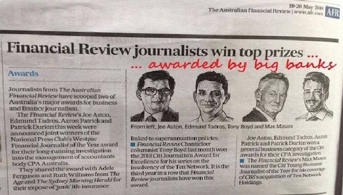 Fake news at the Australian Financial Review