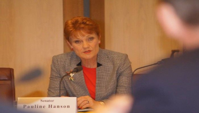 One Nation Leader Pauline Hanson
