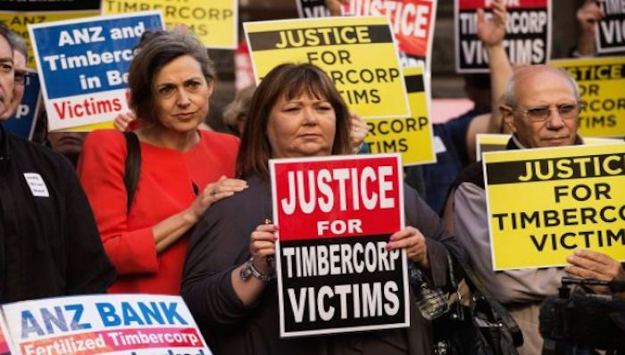 There are thousands of victims of financial advice scams who have not been paid, including Timbercorp and Great Southern. Photo: Josh Robenstone