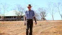 Winton grazier Charlie Phillott on his property Carisbrooke Station. Picture: Adam Head