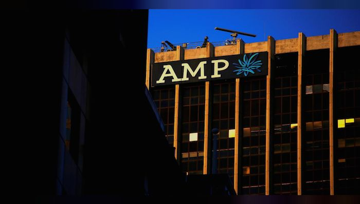 FILE PHOTO: The logo of AMP Ltd, Australia's biggest retail wealth manager, adorns their head office located in central Sydney, Australia, May 5, 2017. REUTERS/David Gray/File Photo