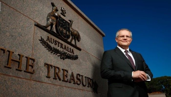 Federal Treasurer Scott Morrison is working on a financial redress scheme for bank victims. Photo: Alex Ellinghausen