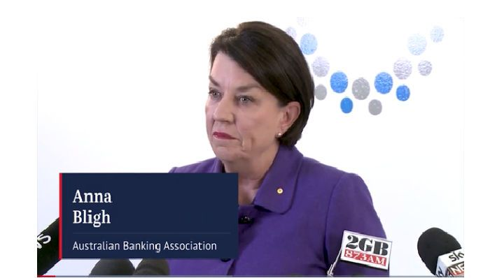 "Australian Banking Association CEO Anna Bligh says Australia's banks accept ""full responsibilty"" for failures highlighted by the interim report from the Banking Royal Commission."