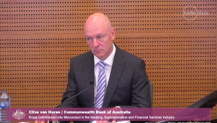 CBA's Clive van Horen said the bank had legal advice that it was not required to tell ASIC about the breach within 10 days because it was of consumer credit laws and not the Corporations Act. Photo: supplied