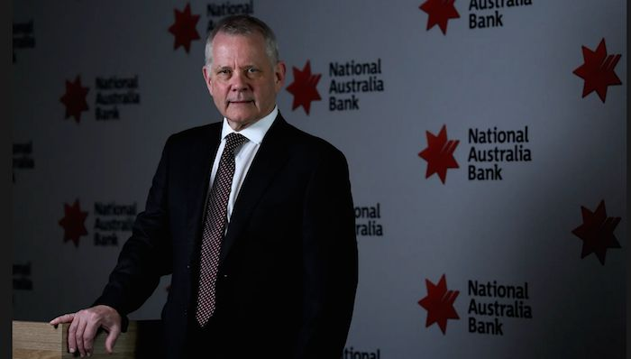 NAB's interim chief executive, Phil Chronican, has announced a sharp fall in profit, in part due to the scandals exposed by the banking royal commission. Photograph: Bianca de Marchi/AAP